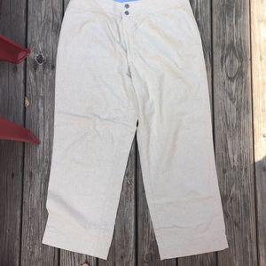 Tan colored linen pants